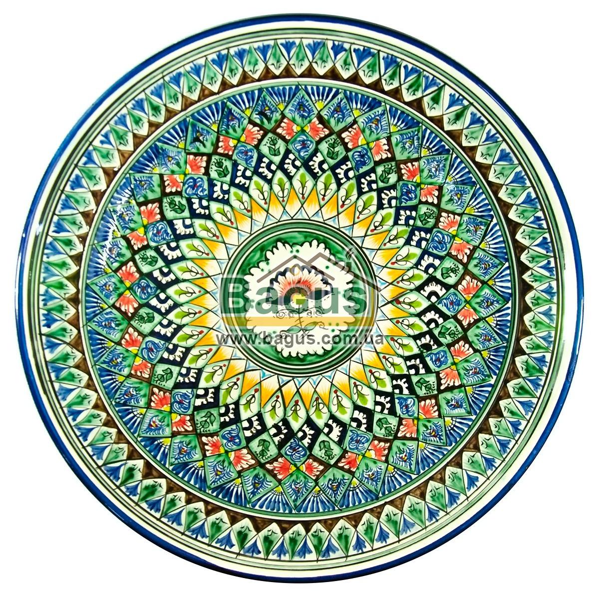 Ляган узбецький (тарілка узбецька) діаметр 42см ручна робота 4205-06