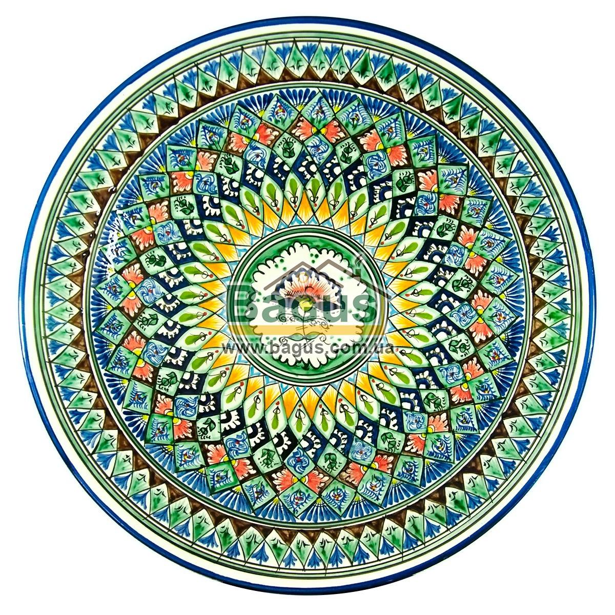 Ляган узбекский (тарелка узбекская) диаметр 42см ручная работа 4205-09