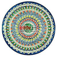 Ляган (узбецька тарілка) 42х5см для подачі плову керамічний (ручна розпис) (варіант 2), фото 1