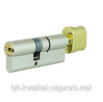 Цилиндр замка MUL-T-LOCK INTEGRATOR 62 (31х31Т),  5KEY ключ/тумблер, цвет латунь