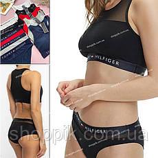 Красное женское нижнее белье топ и трусы слипы Комплект женского белья, фото 2