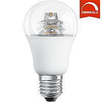 Светодиодная LED лампа OSRAM SUPERSTAR A60 10W 806lm E27 теплый белый, диммируемая, прозрачная