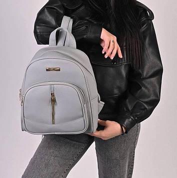 Рюкзак жіночий сірий код 7-6351
