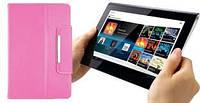 Розовый чехол для планшета диагональю 7 дюймов на зажимах