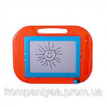 Дитяча дошка для малювання з ручкою стікером PL-7008 (Червоний)