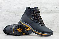 Кожаные мужские зимние ботинки ECCO   натуральная кожа
