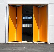 Складані промислові ворота книжка Smart 2+2, без нижньої рейки 4000*4500 мм,  art.: smart2+2