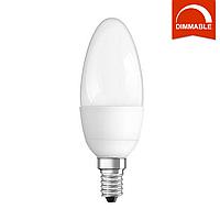 Светодиодная LED лампа OSRAM SUPERSTAR B40 6W 470lm E14 теплый белый, диммируемая, матовая