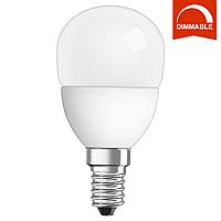 Светодиодная LED лампа OSRAM SUPERSTAR P40 5,4W 470lm E14 холодный белый, диммируемая, матовая