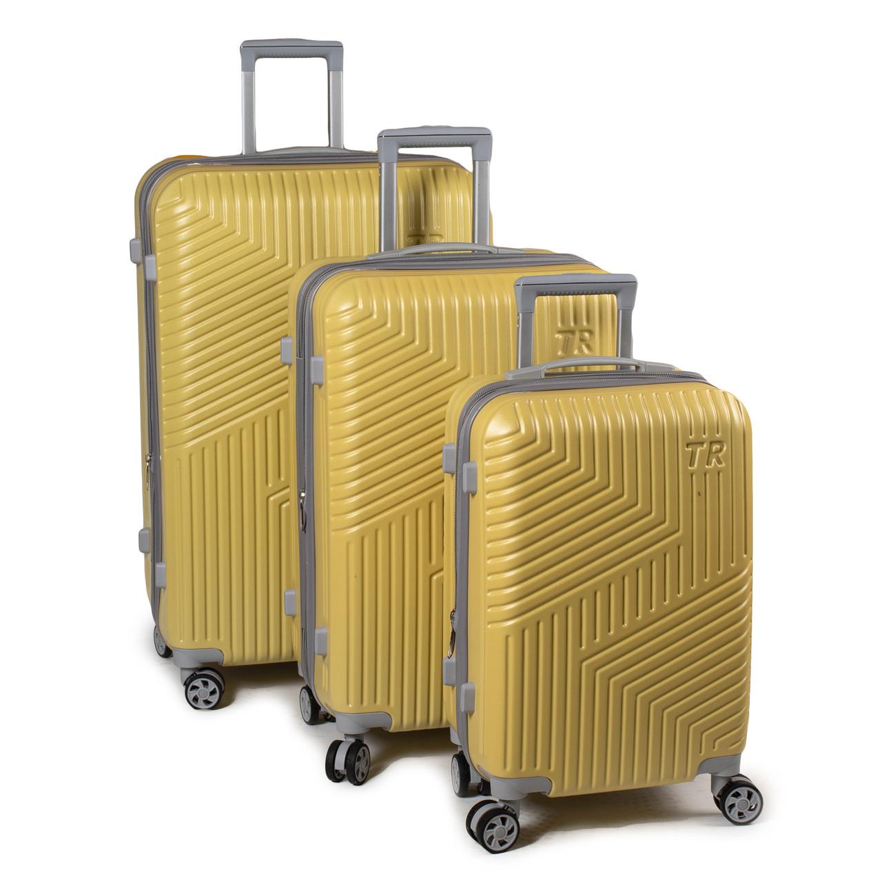 Дорожная Чемодан 31 ABS-пластик 802 yellow