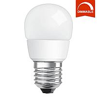 Светодиодная LED лампа OSRAM SUPERSTAR P40 5,4W 470lm E27 холодный белый, диммируемая, матовая