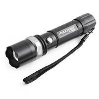 Тактический фонарик Police BL-Т8626 3000W с линзой опт