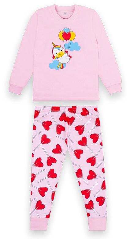 Дитяча піжама для дівчинки (рожевий рр. 104-116)