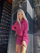 Костюм женский укороченный пиджак и юбка, фото 3