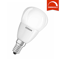 Светодиодная LED лампа OSRAM SUPERSTAR P40 6W 470lm E14 теплый белый, диммируемая, матовая