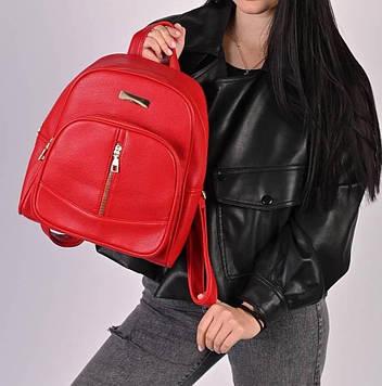 Рюкзак женский красный код 7-6351