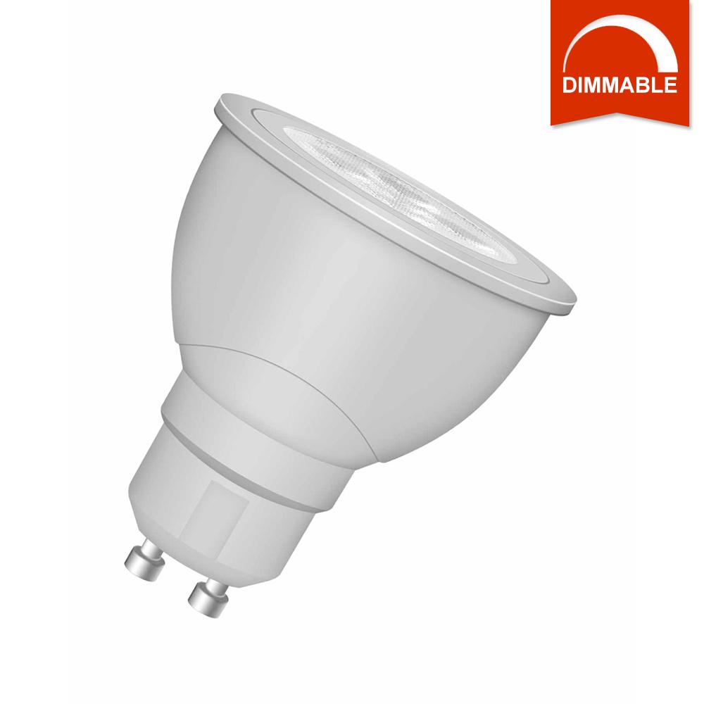 Светодиодная LED лампа OSRAM SUPERSTAR PAR16 50 36° 6W 350lm GU10 теплый белый, диммируемая