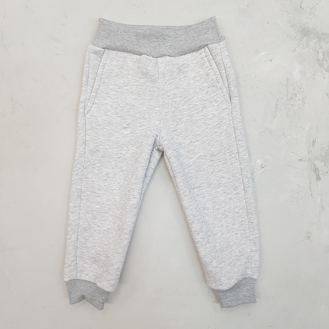 Дитячі теплі штани на флісі меланж