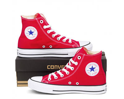 Кеди Converse Style All Star Червоні високі (41 р.) Тотальний розпродаж