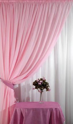 """Шторный набор из шифона """"Элизабет"""" - бледно-розовый, фото 2"""
