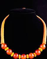 Ожерелье из сердолика