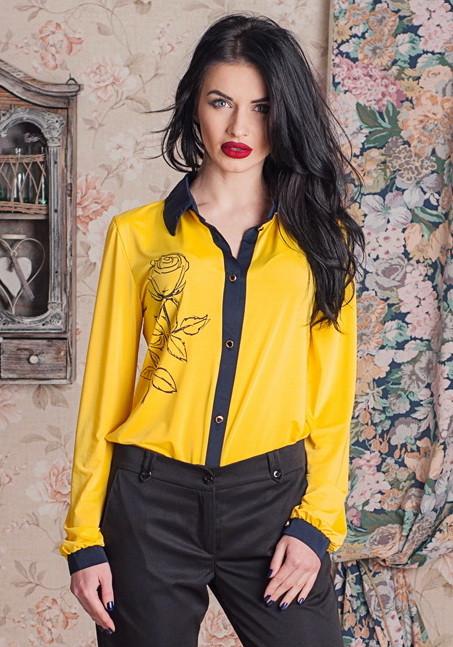 Стильная женская блуза с длинным рукавом