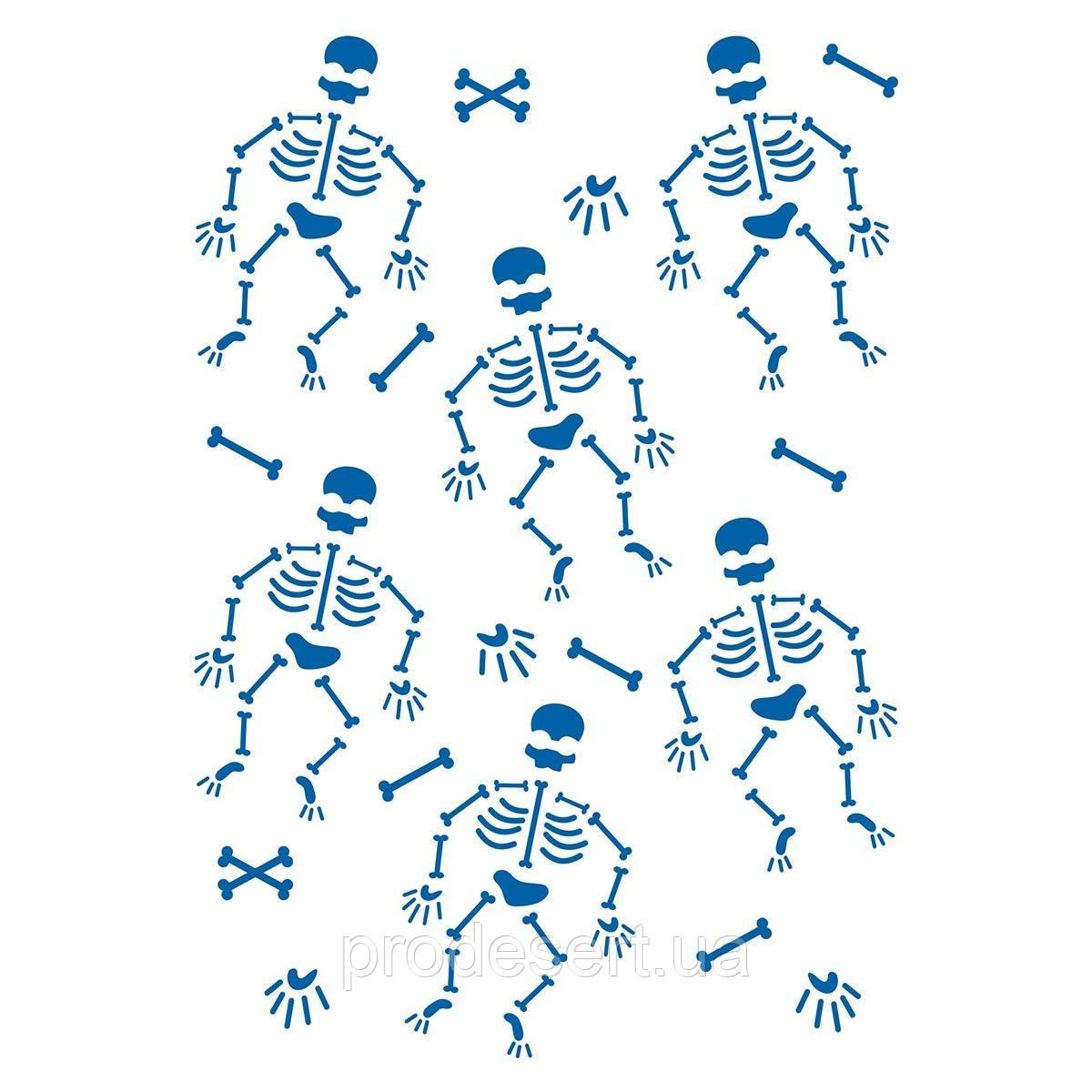 Скелеты трафарет для пряников (TR-2)