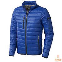 Куртка-пуховик мужская на молнии от ТМ Elevate стёганная, спортивная, размер S, оранжевая, синяя, чёрная