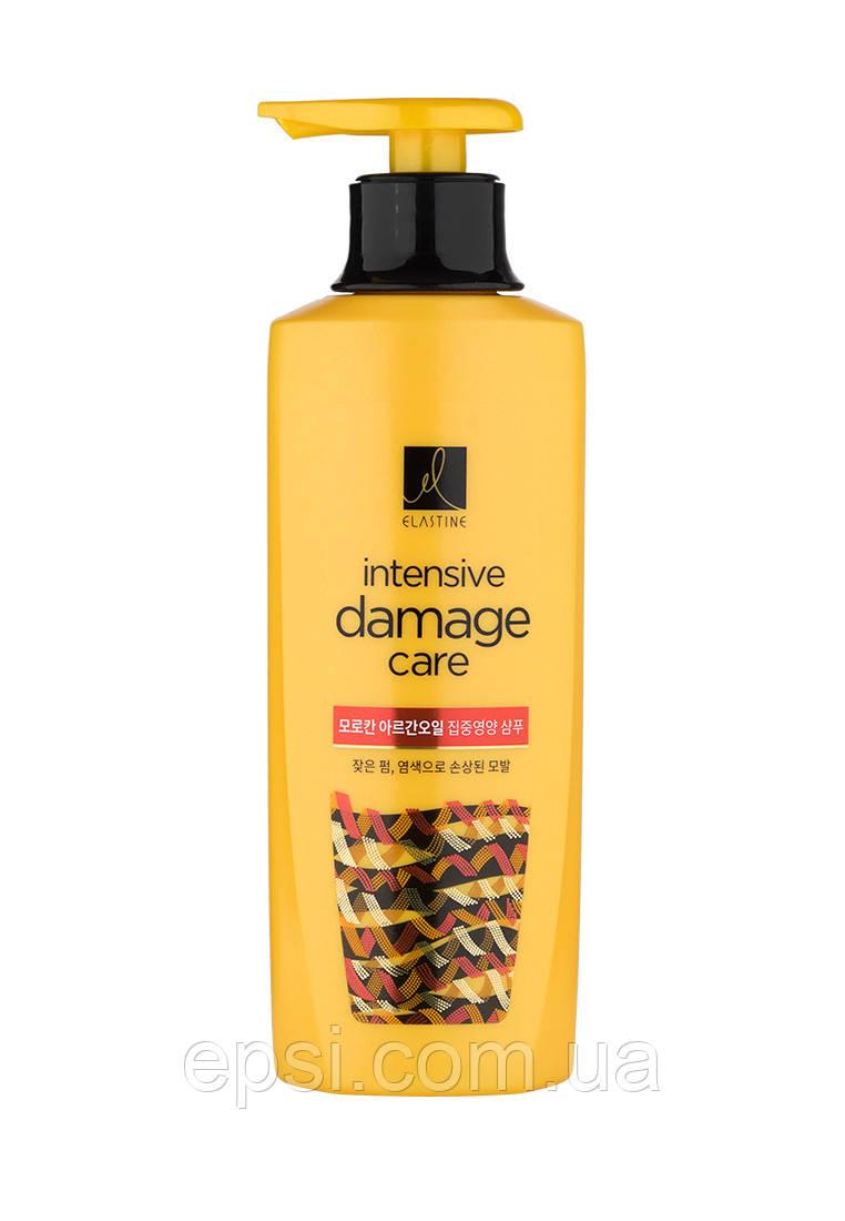 Шампунь для фарбованого та пошкодженого волосся LG Elastine Intensive Damage Care, 400 мл