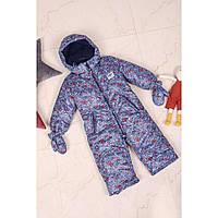 Совместный зимний комбинезон для мальчика человек паук 86-92 размер