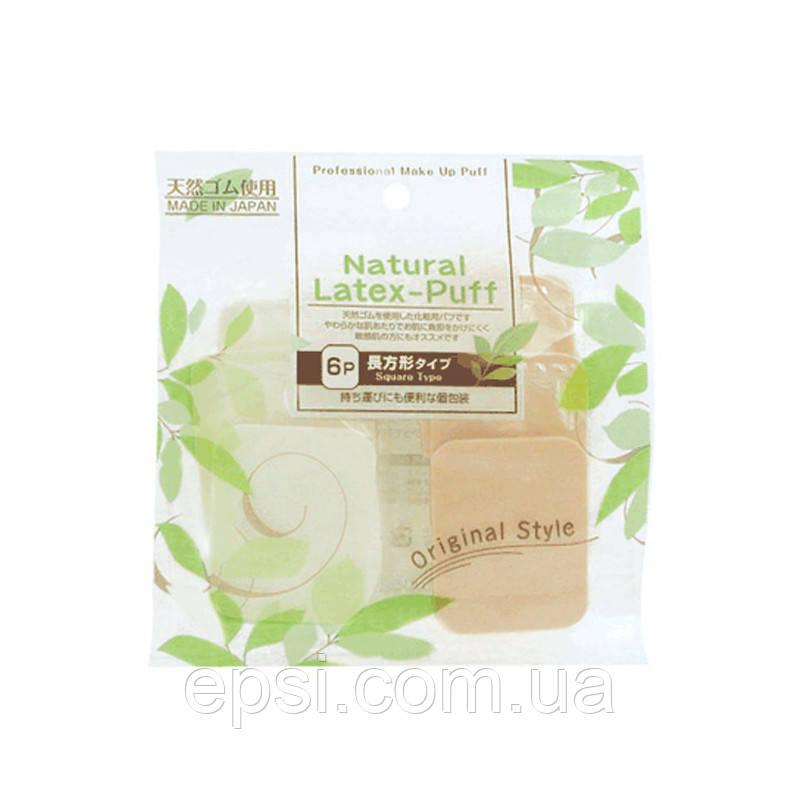 Набор латексных спонжей для макияжа Ishihara Natural Latex Puff, 6 шт.