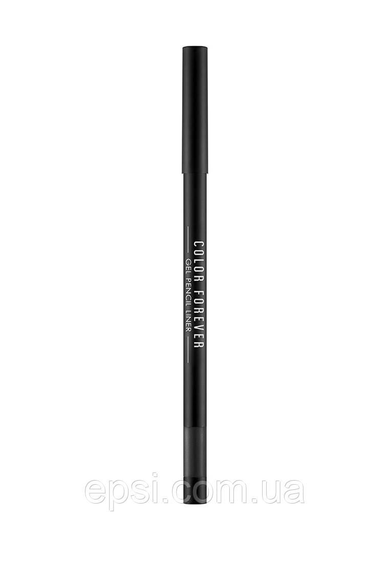 Гелевый карандаш лайнер Apieu Color Forever Gel Pencil Liner BK01, 0.8 гр