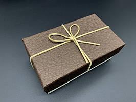 Коробка подарочная, прямоугольная. Цвет коричневый. 9х15х6см.