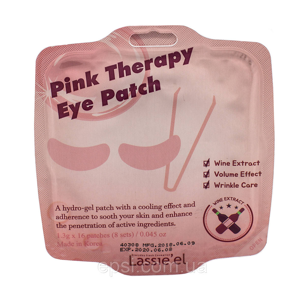 Гелевые патчи для области вокруг глаз Lassie el Pink Therapy Eye Patch, 21 г
