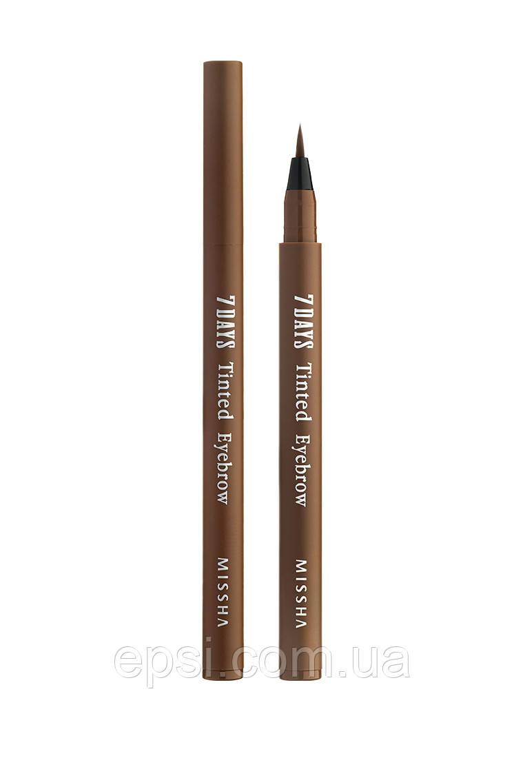 Тінт-плівка для брів Missha 7Days Tinted Eyebrow Sinopia Brown, 0.8 мл