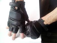 Перчатки тактические усиленные кожаные, фото 1