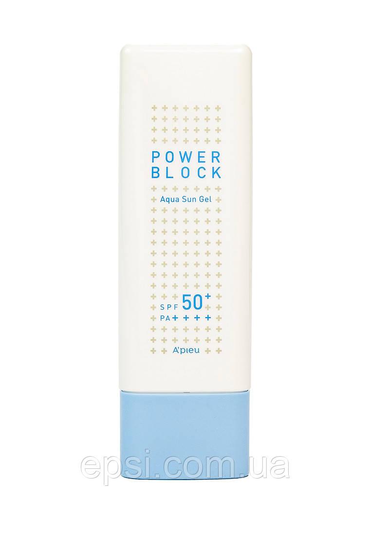 Солнцезащитный гель Apieu Power Block Aqua Sun Gel SPF50 +/PA ++++, 50 мл