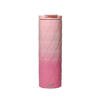 Термочашка YES Pink Heart 420 мл Розовый (707336)