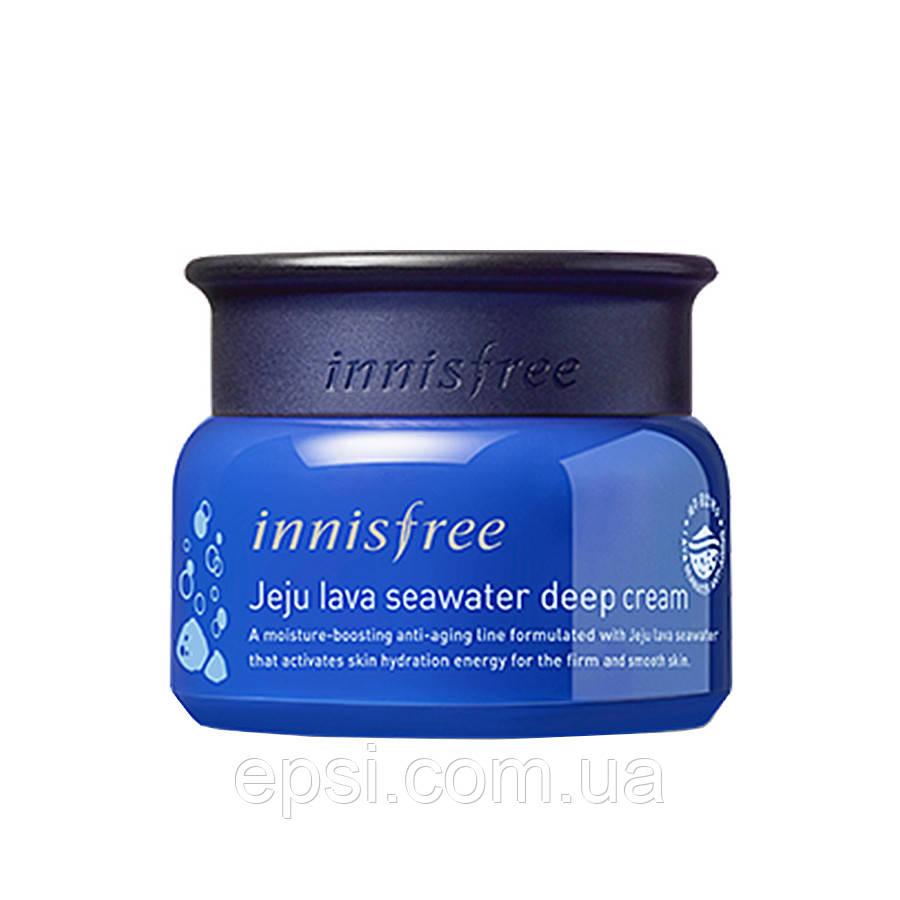 Крем для обличчя з морською водою Innisfree Jeju Lava Seawater Deep Cream, 50 мл