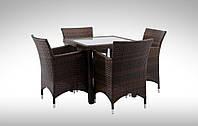 Комплект для кафе плетеный Стол Lepre II 80 x80см  + 4 кресла Condor
