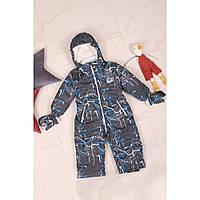 Совместный зимний комбинезон для мальчика абстракт 86-92 размер