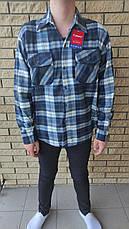 Чоловіча сорочка байкова тепла, є великі розміри, щільна високої якості CANARY, фото 3