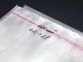 ПП пакети з липкою стрічкою. 42х18см в закритому вигляді 37,5х18см. 25мкр