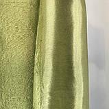 Комплект двосторонніх готових штор на тасьмі блекаут софт 150х270 ( 2шт ) з тюлем 400х270. Колір Салатовий, фото 9
