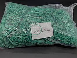 Гумки для грошей Польська. 50х1,5х1,5мм. Колір зелений. 1983