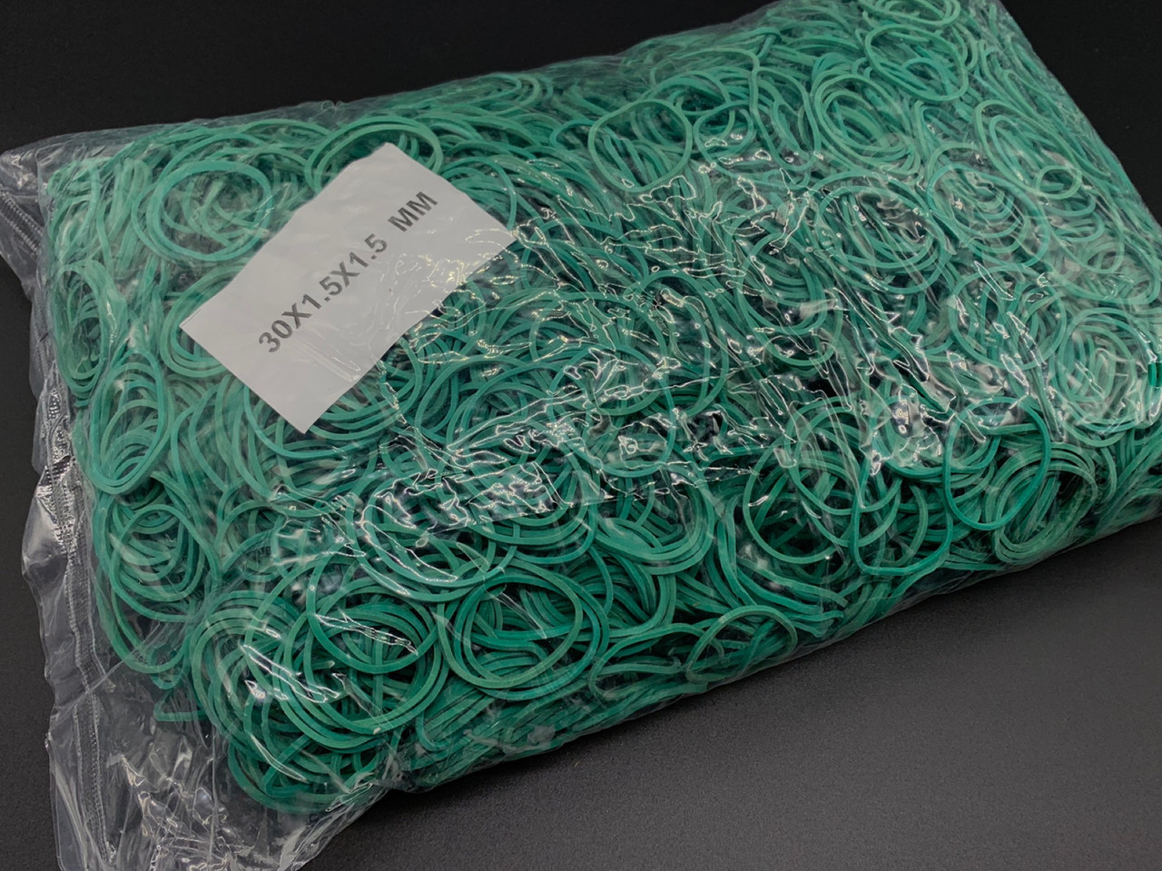 Резинки для денег Польская. 30х1,5х1,5мм. Цвет зеленый.5469 шт