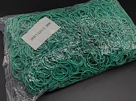 Гумки для грошей Польська. 30х1,5х1,5мм. Колір зелений.5469 шт