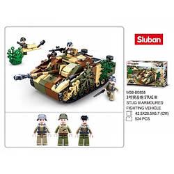 """Конструктор Sluban b0858 """"Боевой танк 2в1"""" 524 деталей."""