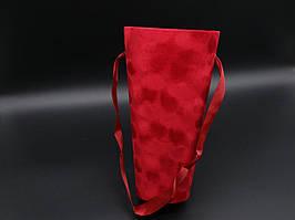 Коробки для цветов. Бархатная. Цвет красный. 25х14см