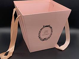 Коробки для цветов. Большое. Цвет розовый. 25х24см